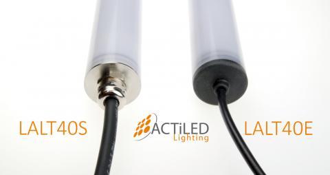 Tubulaires à LED LALT40S et LALT40E de diamètre 40mm